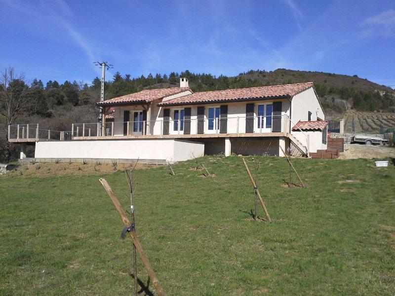 Maison des Lévriers 4* avec bio-piscine au coeur du Pays Cathare, vacation rental in Serres