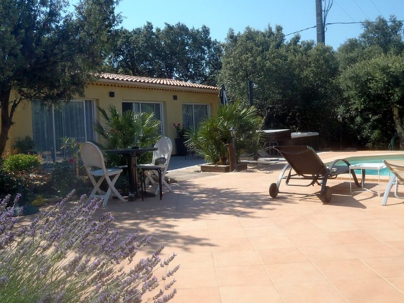 Villa arborée avec piscine & SPA privatifs, vacation rental in Forcalqueiret
