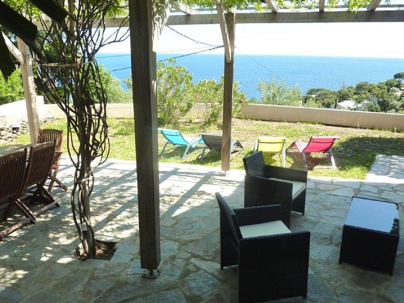 Rez de villa avec vue sur mer, vacation rental in Pietranera