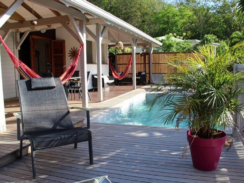 Charmante villa, très belle vue mer avec sa piscine privée, location de vacances à Guadeloupe