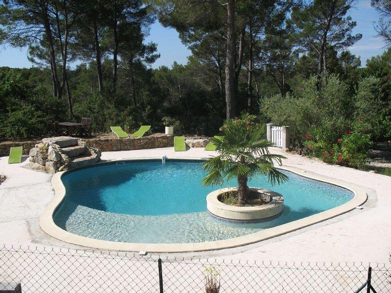 RDJardin, piscine PRIVE  au calme Provence Verte, holiday rental in Entrecasteaux