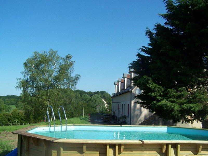 Gîte rural *** avec piscine près des châteaux de la Loire, holiday rental in Dissay-sous-Courcillon