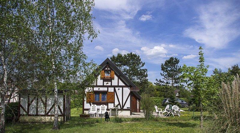 Chalet  piscine, tennis partagés, terrasse, barbecue, animaux autorisés, casa vacanza a Nouan-le-Fuzelier