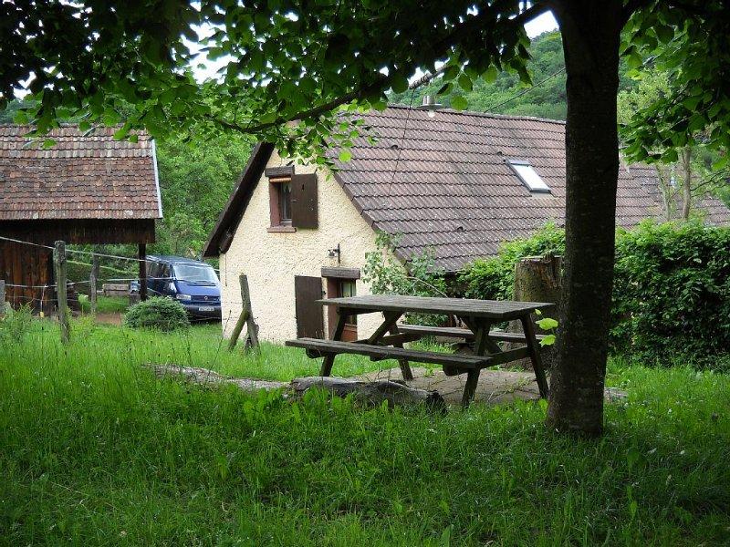 Ancienne fermette rénovée,au contact de la nature, en périphérie de villag, holiday rental in Soultzeren