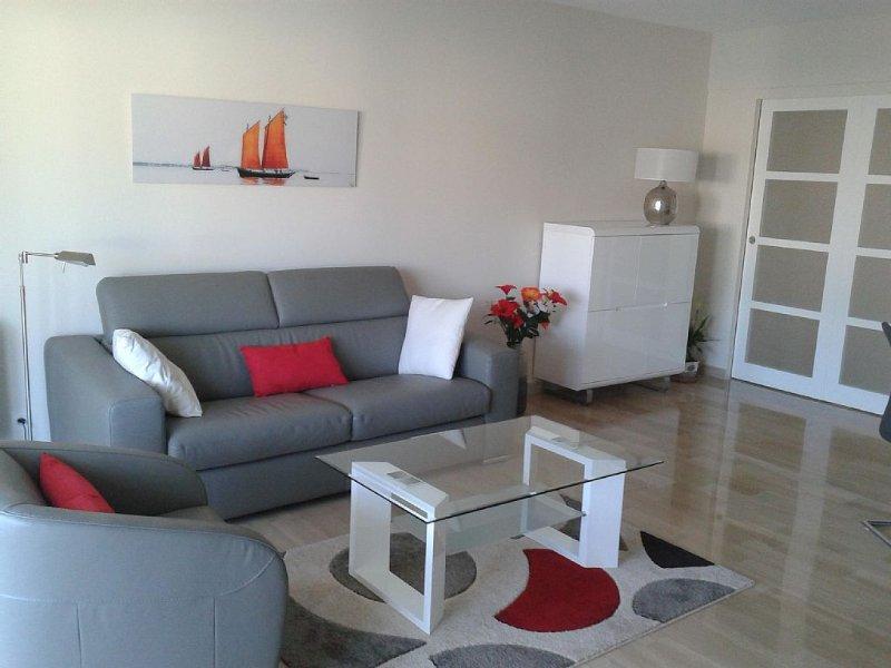 Grand deux pièces , climatisé, terrasse au calme, parking s/s, Croisette à 5 mn, holiday rental in Cannes