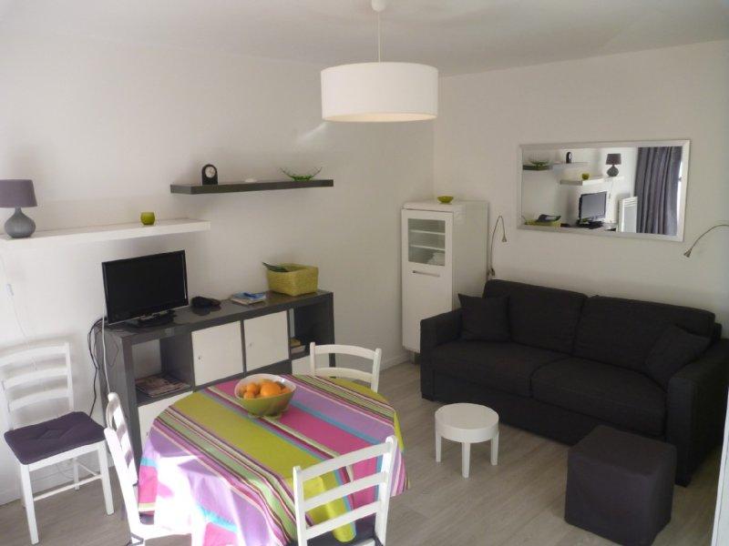 Ravissant STUDIO CABINE 2/4 pers + loggia  ST JEAN DE LUZ A PIED / WIFI, location de vacances à Saint-Jean-de-Luz