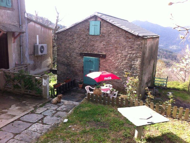 Petite maison  en montagne au coeur de la chataigneraie dans un village, holiday rental in Pietra-di-Verde