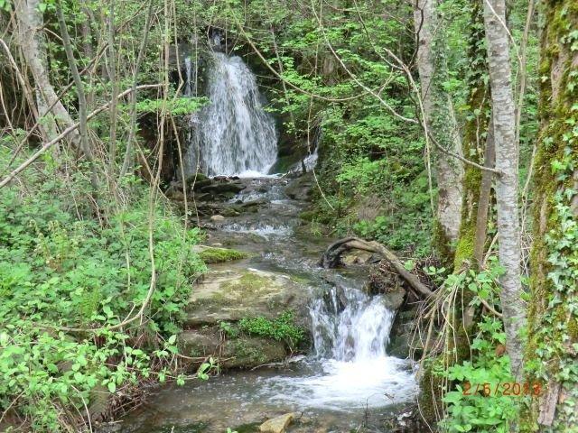 petit ruisseau sur le chemin d' Alauzet