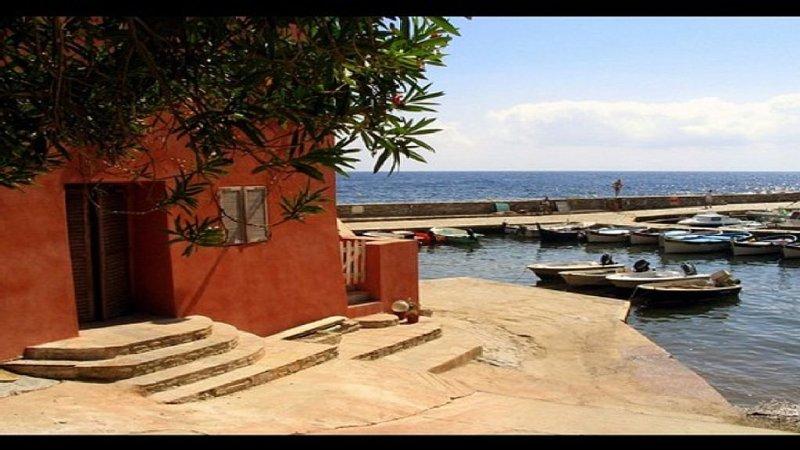 Deux pièces + terrasse, vue mer, port d'Erbalunga, holiday rental in Erbalunga