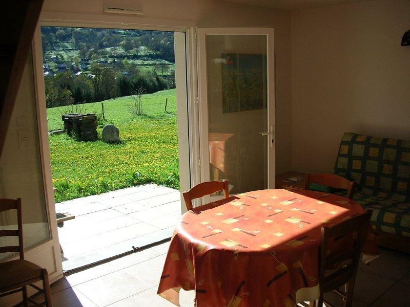Maison terrain calme et vu, holiday rental in Gouaux