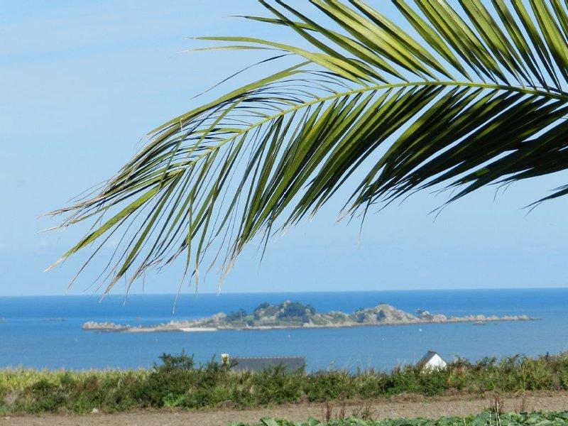 VUE PANORAMIQUE SUR LA BAIE DE PAIMPOL, longère bretonne, tout confort, accueil., location de vacances à Plouézec