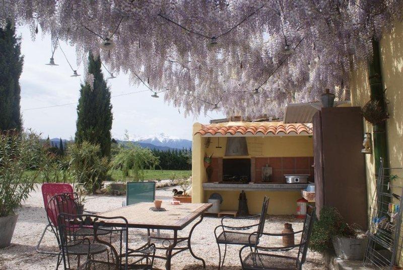 Gite rural dans mas catalan du 19° au coeur des champs de pêchers du Roussillon, holiday rental in Ille-sur-Tet
