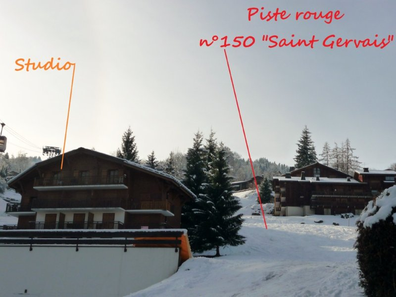 At the foot of 445km of pistes Studio with garage, holiday rental in Saint-Gervais-les-Bains