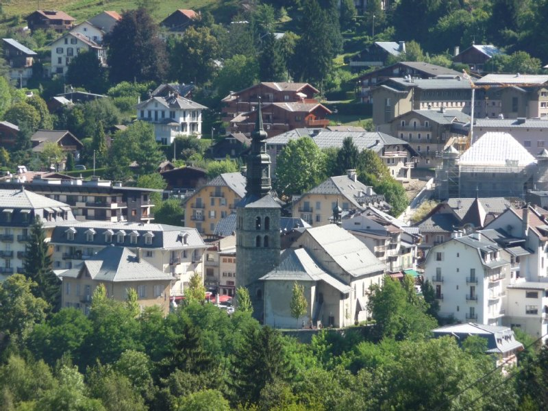 Balcony view: village