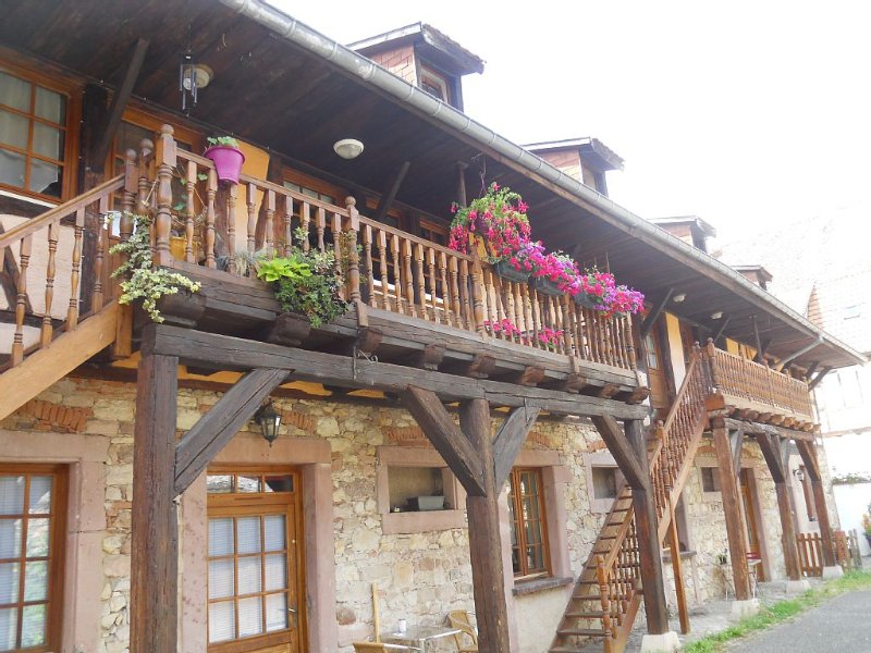 'The Winzer' (Vigneron) 75m² duplex 5/7 pers in quiet old farmhouse, holiday rental in Bergheim