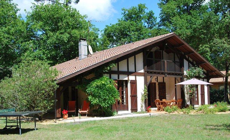 Au coeur du médoc belle maison de famille proche des plages océanes, location de vacances à Talais
