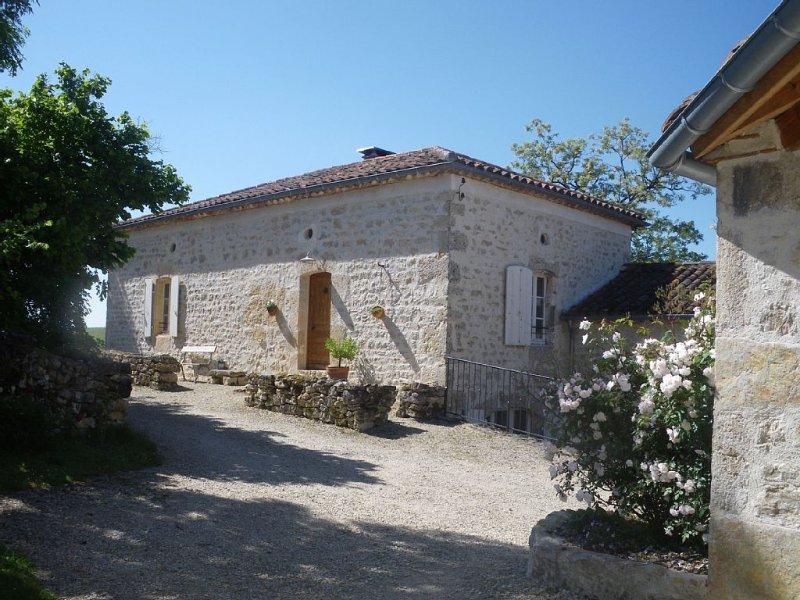 Gîte 18 personnes, 260 m² - 8 chambres - 7 sdb, 20 ha, piscine, calme absolu, location de vacances à Fargues