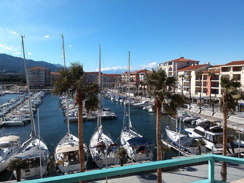 Appt Port Argeles Plage, climatisation, bébé, parking, classé, lave-linge, aluguéis de temporada em Argeles-sur-Mer