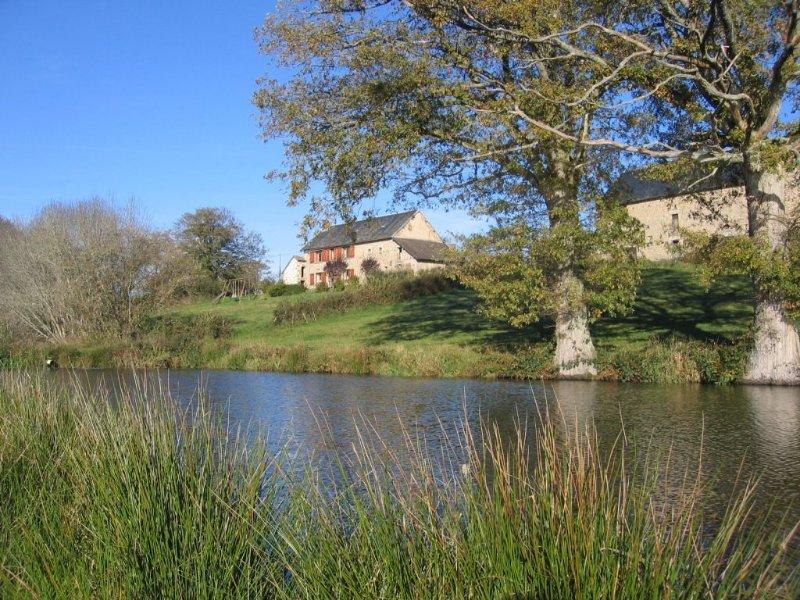 Gite de France 3 épis, isolé en pleine nature au bord d'un étang,, alquiler vacacional en Charensat