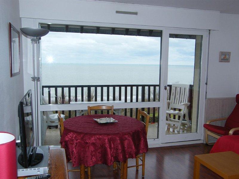2 Pièces  VUE IMPRENABLE sur MER dans petite residence arborée de style Normand, location de vacances à Deauville