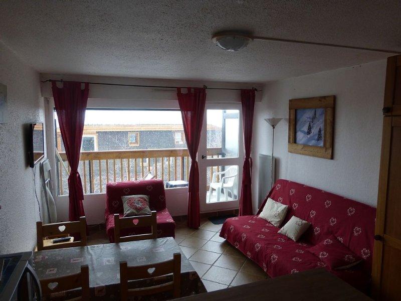 Studio 2° étage plein sud, au pied des pistes, idéal pour le ski, vacation rental in L'Alpe-d'Huez