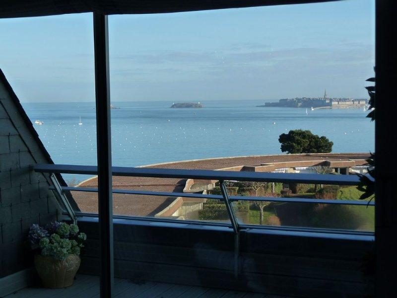 Apartment panoramic sea view - Dinard, vacation rental in Dinard