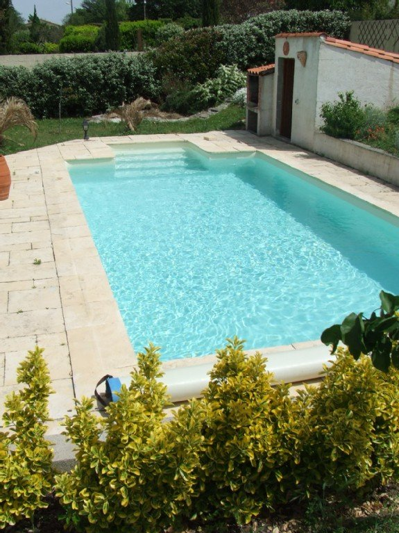 piscine au sel - fond plat