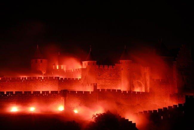 feu d'artifice du 14 juillet cité de carcassonne