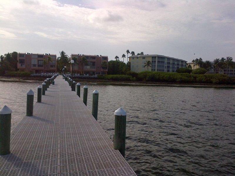 condo dock looking back towards complex