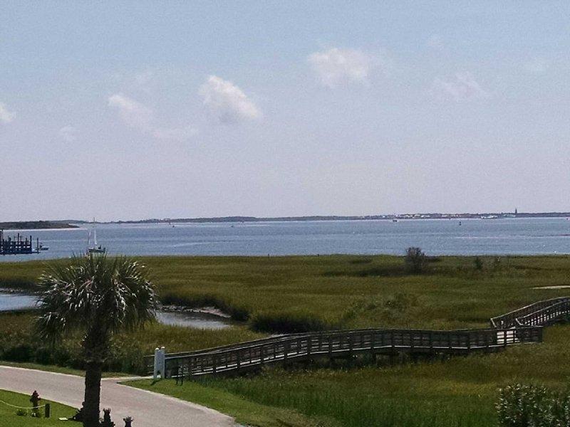 View from deck looking toward Bald Head Island