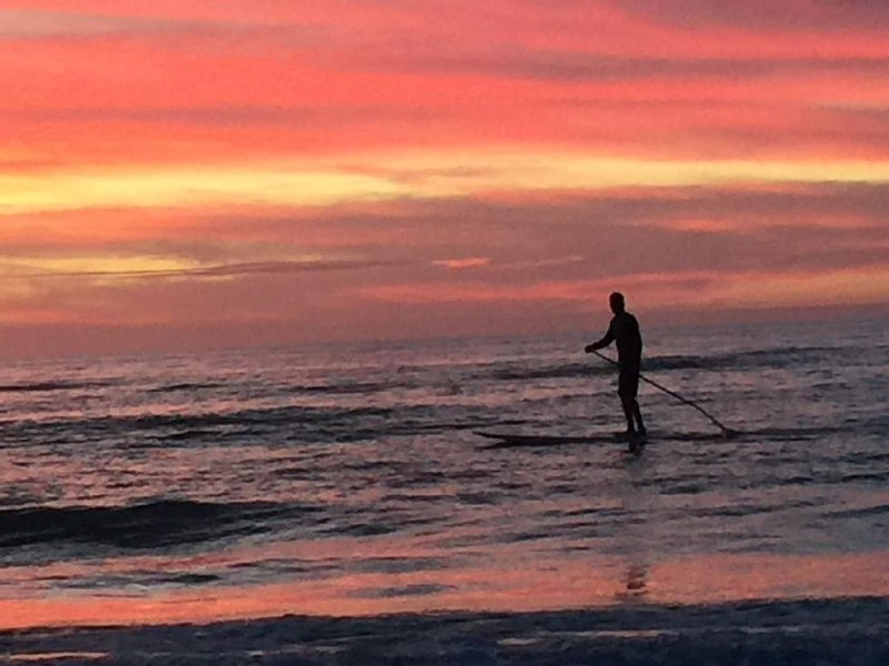 Paddleboarding at one of our amazing sunsets .....take me away!
