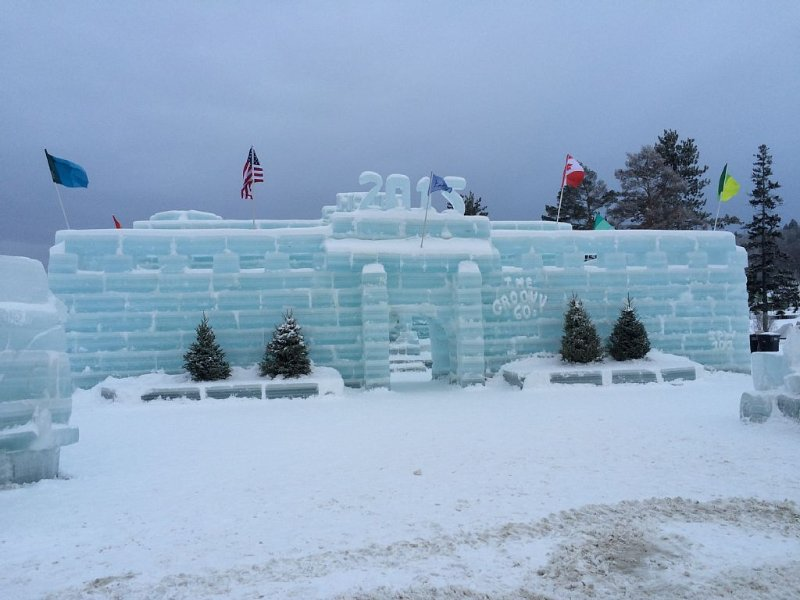 The  Ice Palace is part of the annual  Winter Festival in  Saranac Lake.