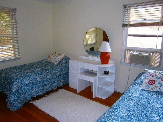 Framsidan sovrum med AC