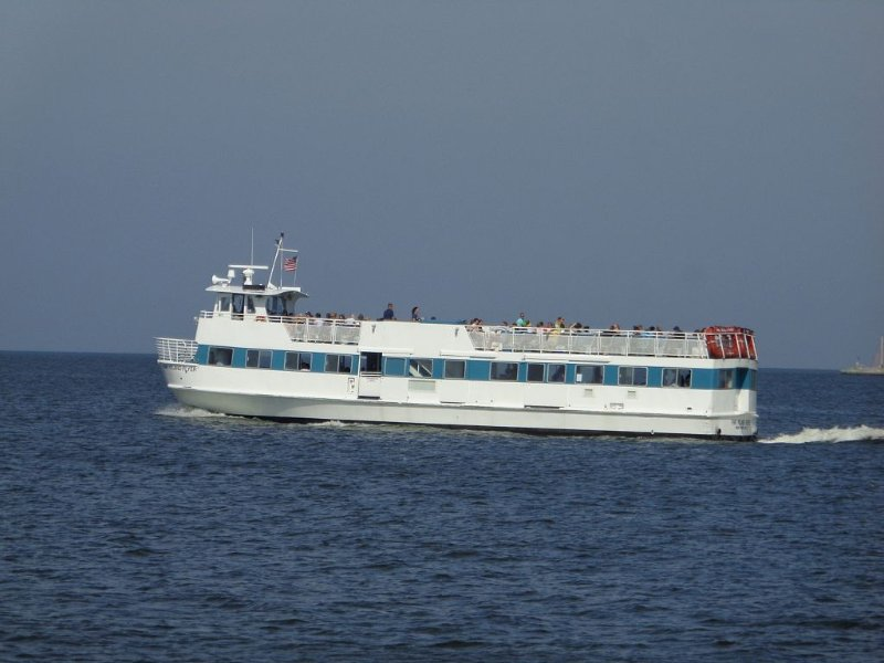 Seaview ferry will take you there and back.
