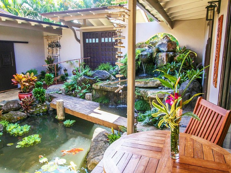 North Shore Oasis - Tropical Waterfall Garden And Bali Hai Sunsets, alquiler de vacaciones en Princeville