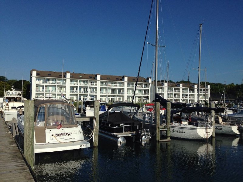 Foster Boat Works Waterfront Condo on Lake Charlevoix in Charlevoix, MI, vacation rental in Charlevoix County