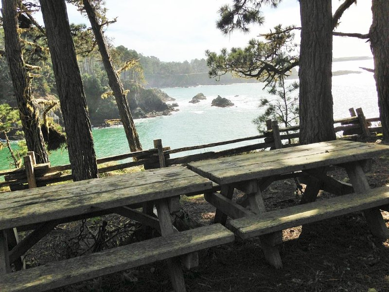 Ocean Views Artist Retreat Stroll to Beach, 2Min to Mendo, walk to Russian Gulch, vacation rental in Mendocino County