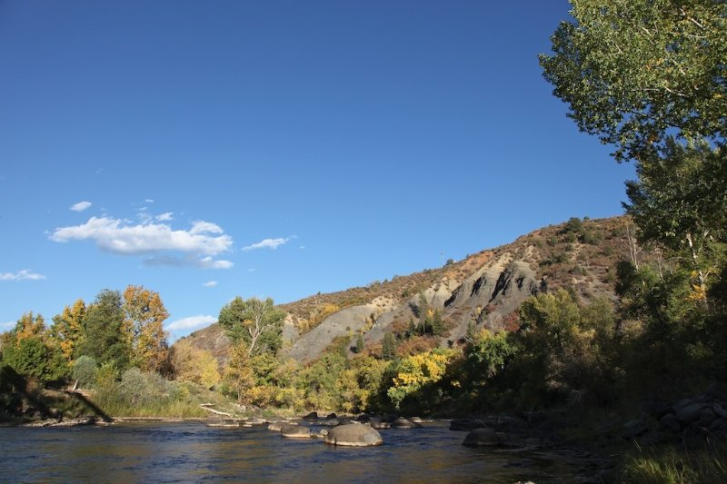 Animas river just a minute or two walk from the house