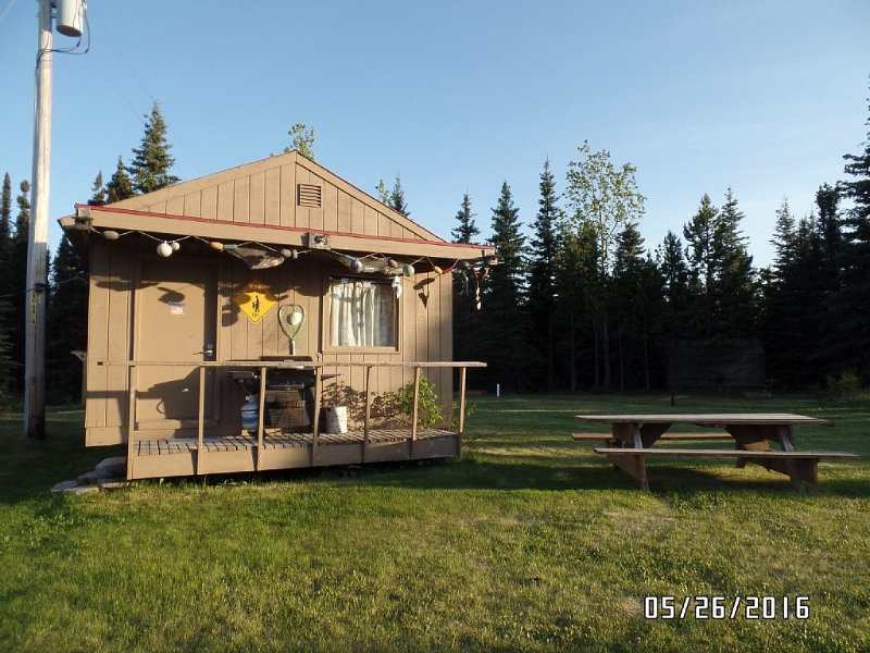 Rustic one room cabin on 600 feet on the Kenai River, holiday rental in Soldotna