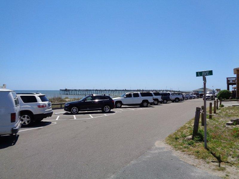 Public parking at beach