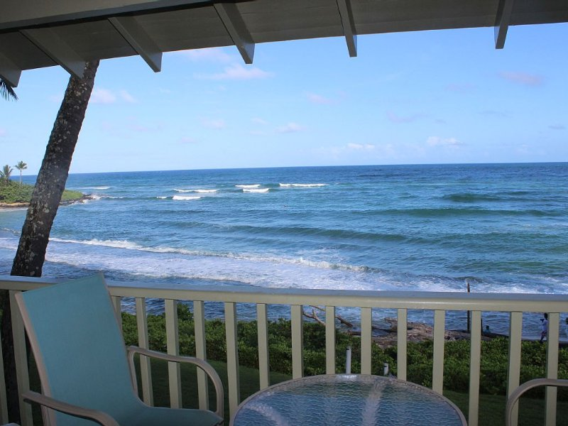 **DIRECT OCEAN FRONT W/BIG VIEWS**, alquiler de vacaciones en Kapaa