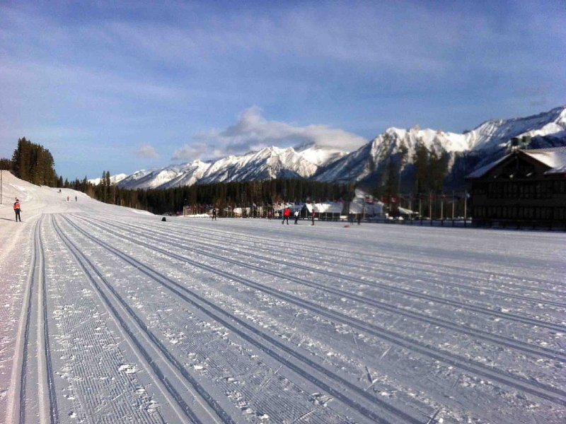 Canmore Nordic Centre with endless groomed trails for cross country skiing