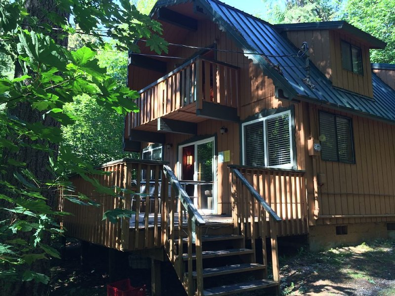 3 Bedroom Cabin In The Woods With Hot Tub, Yard, Fire Pit ~ Pet Friendly!!, vacation rental in Glacier