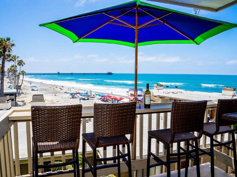 JAN & FEB 2021 ON SALE $119/NIGHT/STRIKING OCEAN VIEW D210 FACING OCEANSIDE PIER, holiday rental in Oceanside