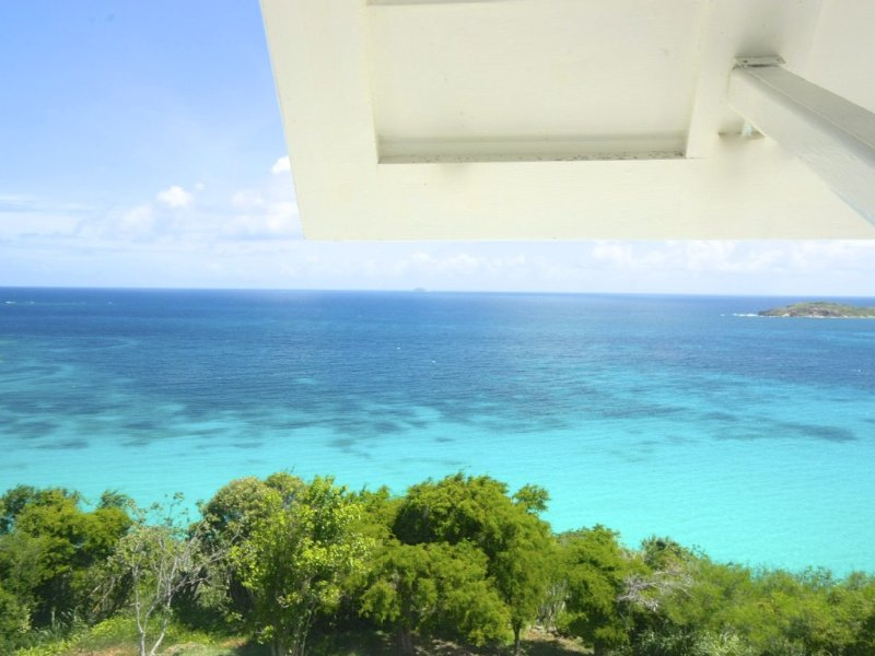 View from Seaglass living room south to the Caribbean Sea