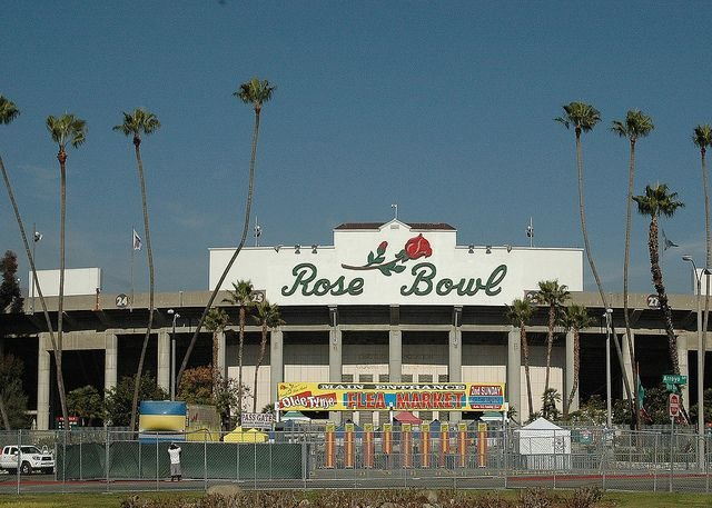 Rose Bowl is just 17 miles away