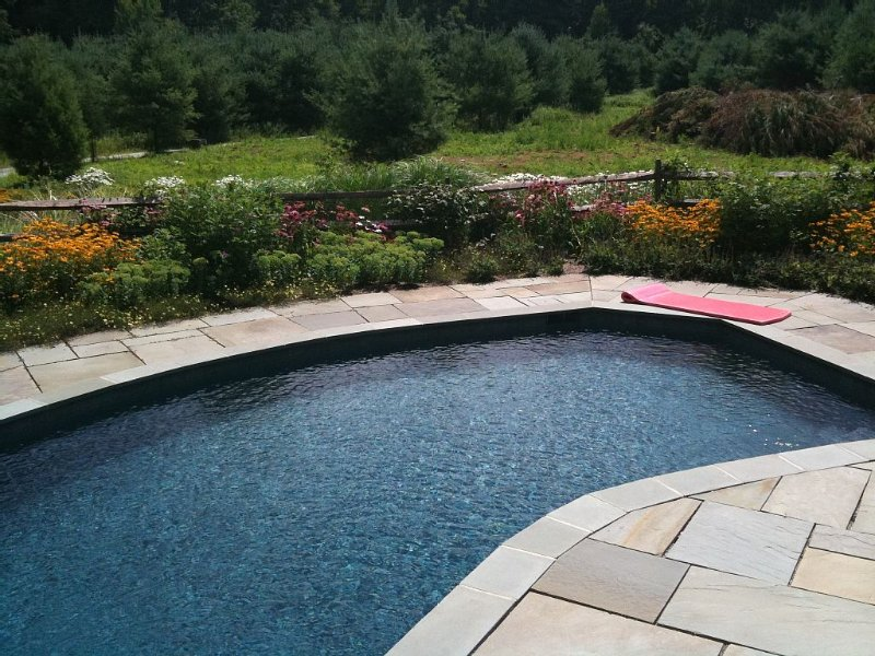 Pet & Kid Friendly, Solar, 13 Acres, Salt Water Pool, River Views, vacation rental in Litchfield