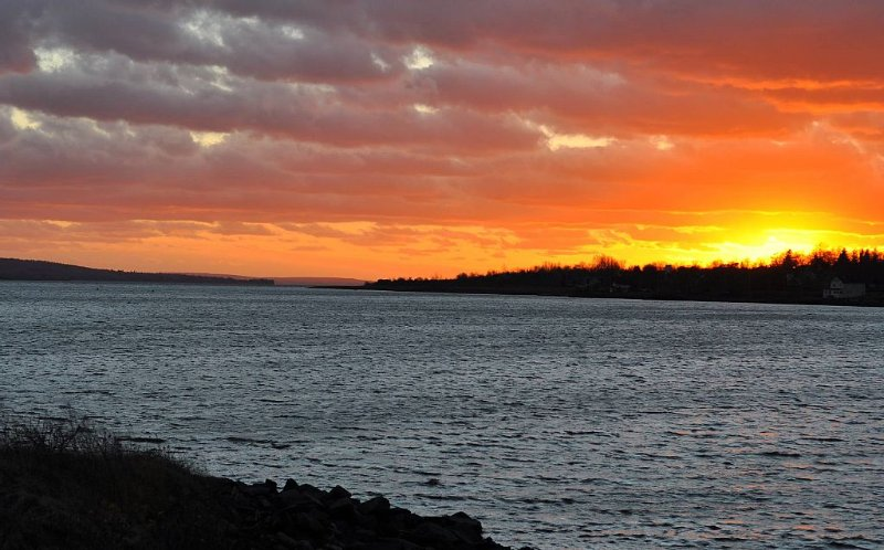 Looking west over Digby Basin from Annapolis Royal Causeway