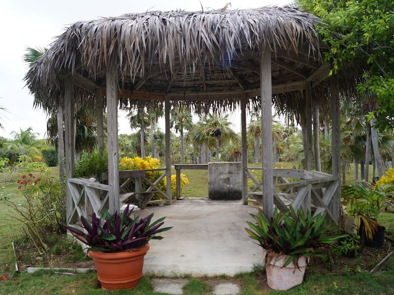Gazebo with charcoal grill
