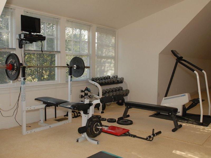 Exercise area in third floor fun space